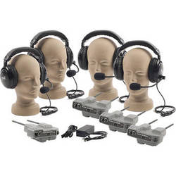 PortaCom PRO-540 4-User ProLink Dual-Ear Wireless Beltpack Intercom System