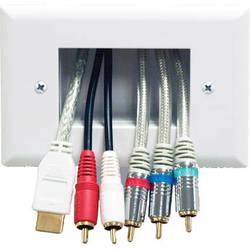 Peerless-AV Easy Mount Recessed Low-Voltage Cable Plate