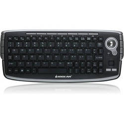 IOGEAR 2.4GHz Wireless Compact Keyboard with Optical Trackball and Scroll Wheel