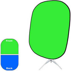 """Savage Collapsible Stand Kit (60 x 72"""", Chroma Green/Blue)"""