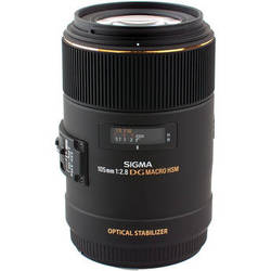 Sigma 105mm f/2.8 EX DG OS Macro Lens for Sony Cameras