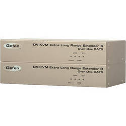 Gefen DVIKVM Extra Long Range Extender for DVI and USB over one CAT-5 Cable