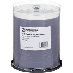 Microboards White Inkjet DVD-R 16x (100 Pk)