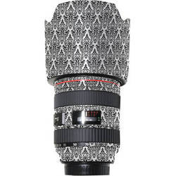 adaecdbf7e4b LensSkins Lens Wrap for Canon 24-70mm f/2.8L (BW Damask)