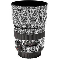 LensSkins Lens Wrap for Canon 85mm f/1.8 (BW Damask)