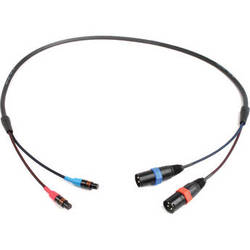 "Remote Audio CA744XLRLO Dual XLR Male to Dual TA3F Output Cable for 744T (48"")"