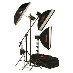 Photogenic 1,500W/s PowerLight 4 Light Studio Kit (120V)