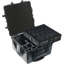 Pelican 1644 Transport 1640 Case with Dividers (Black)
