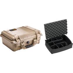 Pelican 1450 Case with Dividers (Desert Tan)
