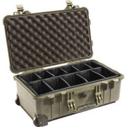 Pelican 1514 Carry On 1510 Case with Dividers (Olive Drab)