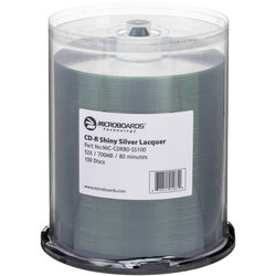 Microboards CD-R Shiny Silver Lacquer 52x (100 Pk Spindle)