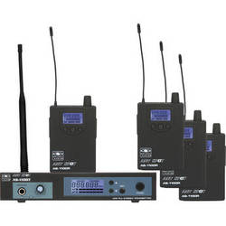 Galaxy Audio AS-1100L 4-User Personal Wireless Stage Monitoring System (655 to 679 MHz)