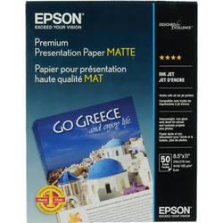 "Epson Premium Presentation Paper Matte (8.5 x 11"", 50 Sheets)"