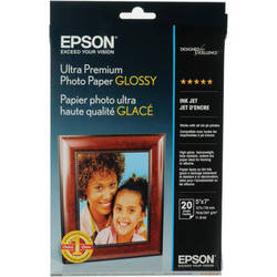 "Epson Ultra Premium Photo Paper Glossy (5 x 7"", 20 Sheets)"