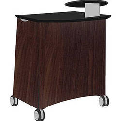 Vaddio Instrukt Lectern with Casters (Oiled Cherry)
