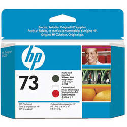 HP 73 Matte Black & Chromatic Red Printhead