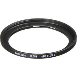 Heliopan #308 Adapter Ring (Bay 3 Lens Size to 49mm Filter Size)