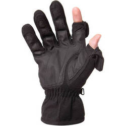 Freehands Women's Stretch Gloves (Large, Black)