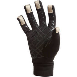 Freehands Power Stretch 5 Finger Liner, Unisex (Medium/Large, Black)