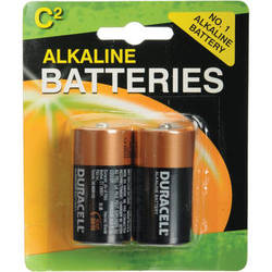 Duracell C Alkaline Coppertop Battery (1.5V, 2 Pack)