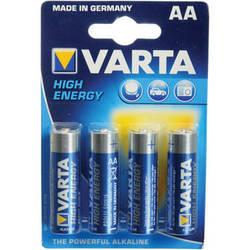 Varta High-Energy 1.5V AA LR6 Alkaline Battery (4-Pack)
