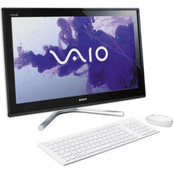 "Sony VAIO L23 VPCL237FX/W 24"" All-in-One Desktop Computer (White)"