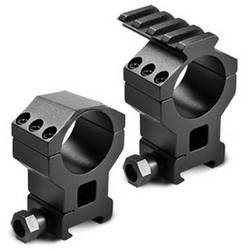 """Barska 30mm High Tactical Style Riflescope Rings With 1"""" insert, built in Picatinny rail, and Picatinny base (Matte)"""
