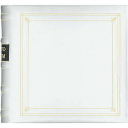 Pioneer Photo Albums BL-200 Bonded Leather Photo Album (White)