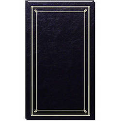 Pioneer Photo Albums Slim Line Post Style Pocket Album (Black)