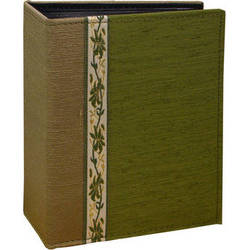 Pioneer Photo Albums TF4100-GN Tone-on Tone Fabric Photo Album (Green)