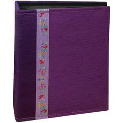 Pioneer Photo Albums TF4100-PR Tone-on Tone Fabric Photo Album (Purple)