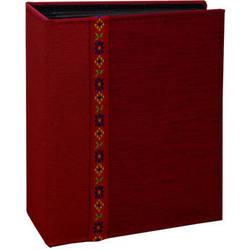 Pioneer Photo Albums TF4100-R Tone-on Tone Fabric Photo Album (Red)
