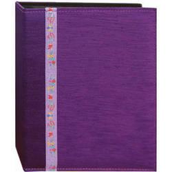 Pioneer Photo Albums TFP246-PR Tone-on Tone Fabric Photo Album (Purple)