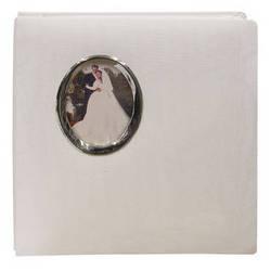 Pioneer Photo Albums WF5781-S Oval Framed Wedding Album (Silver Oval Frame)