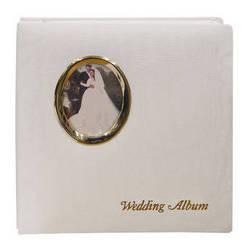 "Pioneer Photo Albums WF5781-GT Oval Framed Wedding Album (Gold Oval Frame with Inscribed ""Wedding Album"")"