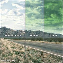 LEE Filters 100 x 150mm Soft-Edge Graduated Green Filter