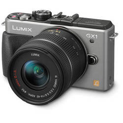 Panasonic LUMIX DMC-GX1 Mirrorless Micro Four Thirds Digital Camera with G VARIO 14-42mm Lens Kit (Silver)