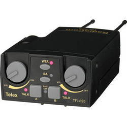 Telex TR-825 2-Channel Binaural UHF Transceiver (A5F RTS, E88: 590-608MHz Receive/470-488MHz Transmit)