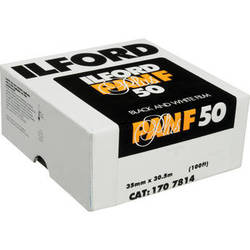 Ilford Pan F Plus Black and White Negative Film (35mm Roll Film, 100' Roll)