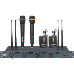 Pyle Pro PDWM7300 4-Channel Wireless UHF Microphone System