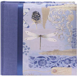 Pioneer Photo Albums DA-200D Bella Fabric Ribbon Designer Page Memo Photo Album (Sky Blue)