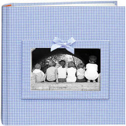 Pioneer Photo Albums DA200GRB-GB Baby Frame Gingham Fabric Memo Album (Blue)