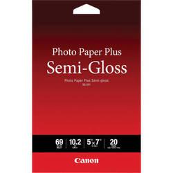 """Canon SG-201 Photo Paper Plus Semi-Gloss (5 x 7"""", 20 Sheets)"""