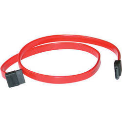 C2G 7-pin 180- to 90-Degree 1-Device Serial ATA Cable - 18""