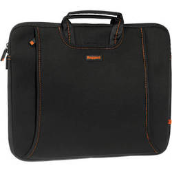 "Ruggard 15"" Ultra Thin Laptop Sleeve with Handles (Black/Orange)"