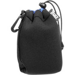 Zing Designs MPBK1 Medium Drawstring Pouch (Black/Blue)