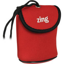 Zing Designs Camera Pouch, Small (Red)