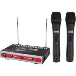 Jammin TwinJunior Dual-Channel VHF Wireless Microphone System
