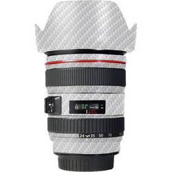 LensSkins Lens Skin for the Canon 24-105 f/4L IS EF USM Lens (White Carbon Fiber)