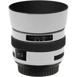 LensSkins Lens Skin for the Canon 50mm f/1.4 USM Lens (White Carbon Fiber)
